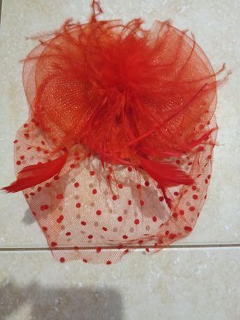 Шляпка вуалетка вуаль на заколках кокетка фата на свадьбу выпускной