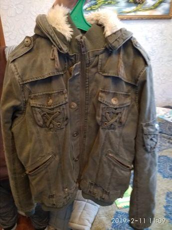 Котоновая куртка, демисезонная, XL, 52 54 р., Boulevard, как новая