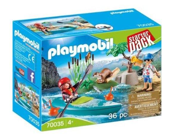 NOVO playmobil 70035 starter pack caiaque - flutua na agua