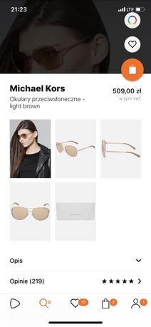 Michael Kors okulary przeciwsłoneczne + etui