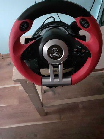Kierownica COBRA czarno-czerwona do Xbox one, PC, PlayStation 3 i 4