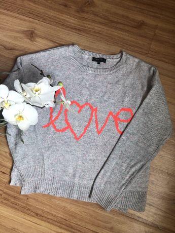 Свитр серый оверсайз New Look с надписью Love