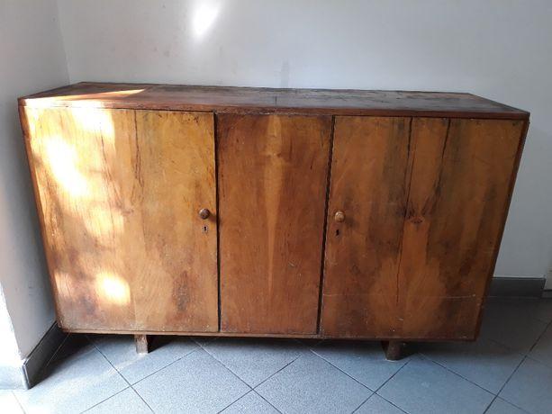 Stara zabytkowa komoda PRL (kredens art deco, szafka zabytek)