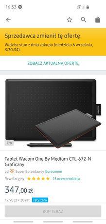 Tablet graficzny Wacom One By Medium CTL-672-n