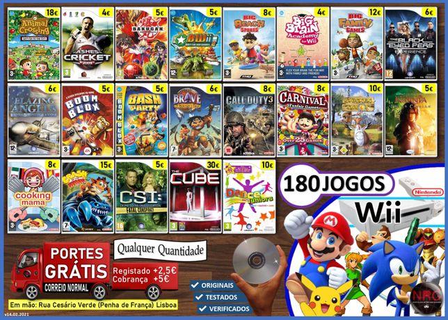 [Wii] 180 Jogos nintendo Wii (PORTES GRÁTIS - Qualquer Quantidade)