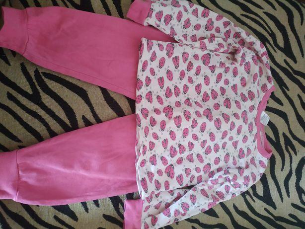 Утепленая пижама на девочку на 2 года