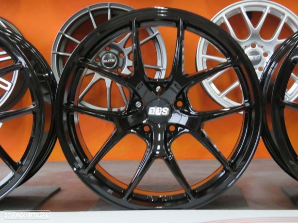 """Jantes BMW Estilo BBS FIR 20"""" 8.5+9.5 et35 5x120 Preto Brilhante"""