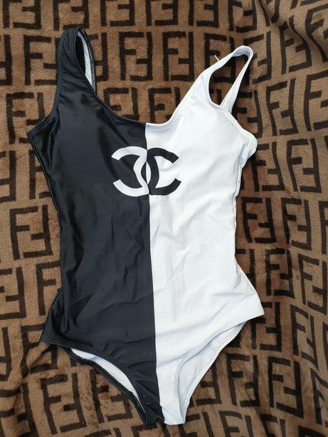 Новый купальник Шанель Chanel чёрно-белый Размер М dior prada