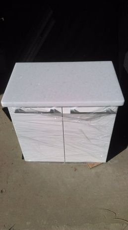 Nowa szafka łazienkowa z blatem marmurowym