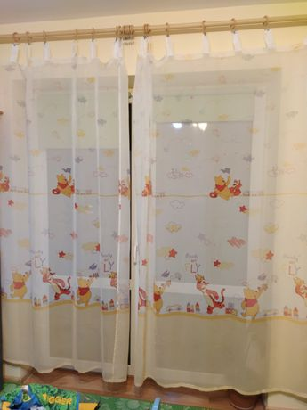 Firanki Kubuś Puchatek 2x150 na 210 cm