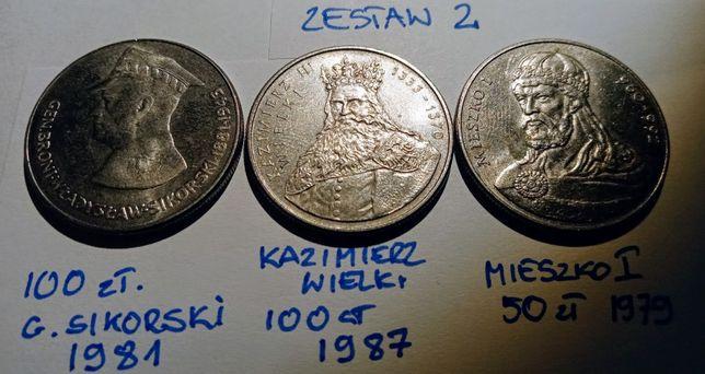 Zestaw 2 50 zł Sikorski, 100 zł KW , 50 zł Mieszko