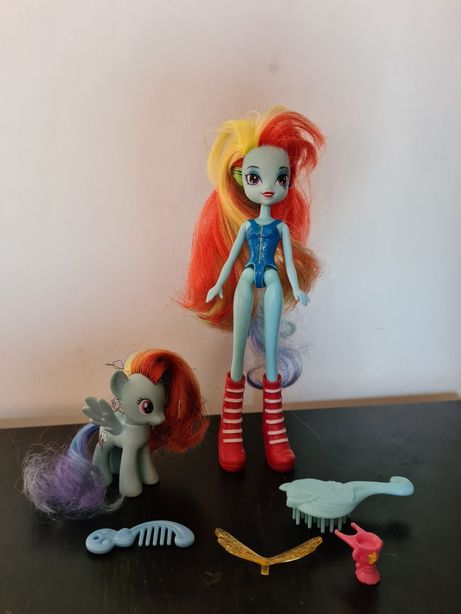 Konik Rainbow Dash i lalka Equestrisn girls My little Pony