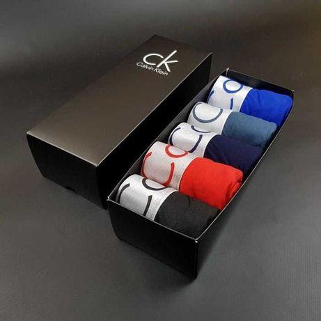 Крутейший подарок, мужские трусы боксеры Кельвин Клейн 5 шт+Корбочка