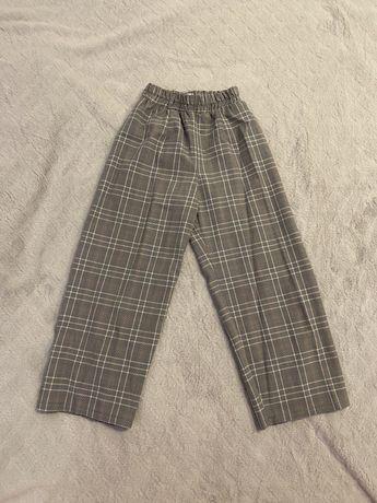 Spodnie szerokie w krate rozmiar xxs