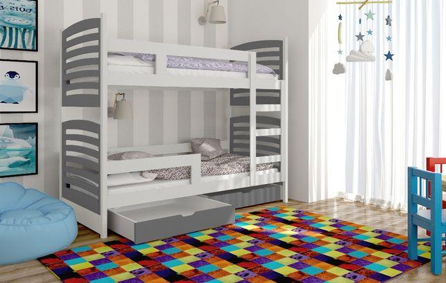 Nowoczesne łóżko piętrowe dla młodzieży OLEK! Materace w Zestawie