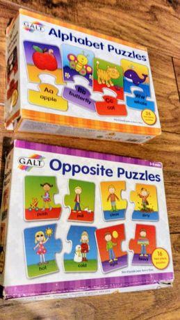 Puzzle Alfabet i przeciwieństwa 26 el. i 16 el. GALT 3-5 lat
