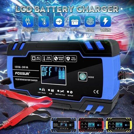 FOXSUR 8А 12/24В Автоматическое SMART зарядное устройство аккумулятора