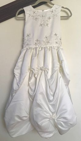 Sukienka dla dziewczynki 12 lat z USA kolor ecru wesele komunia