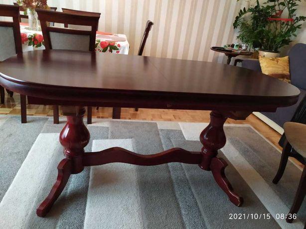 rozkładany stół i 6 szt. krzeseł