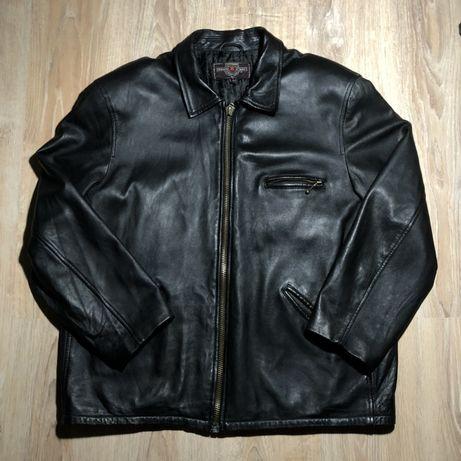 кожаная куртка L-XL, из италии (косуха, кожанка)
