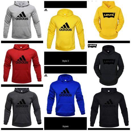 Bluzy męskie z logo Adidas Levis kolory M-XXL!!!