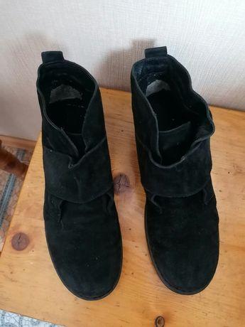 Замшеві черевички черевики ботинки тапочки