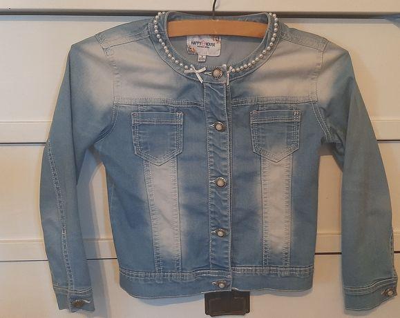 Kurtka jeansowa dla dziewczynki 122-128