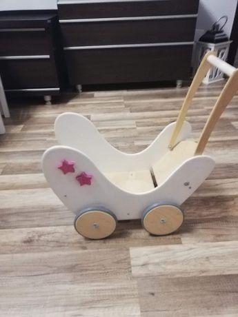 Wózek drewiany do pchania dla dzieci