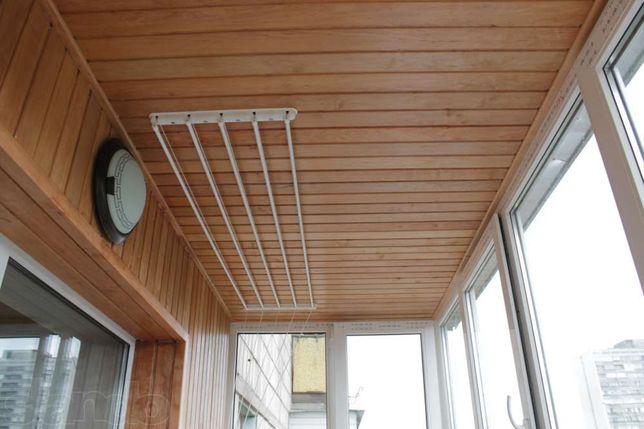 Обшивка балкона деревянной вагонкой ольха. Цена 520 грн. без предоплат