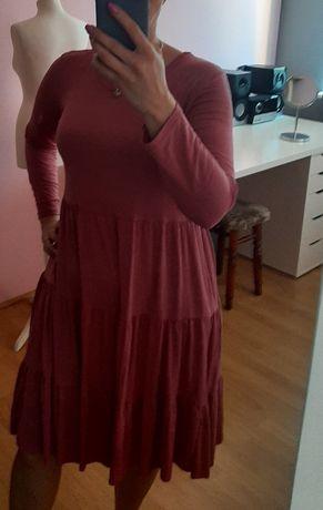 Różowa włoska sukienka