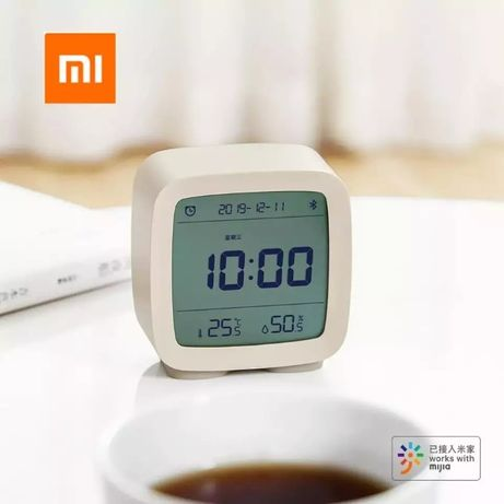 Новый умный будильник Xiaomi Qingping, термометр, гигрометр, Белый