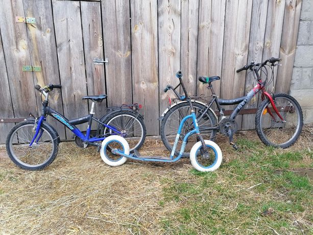 Sprzedam rowery i chulajnoge