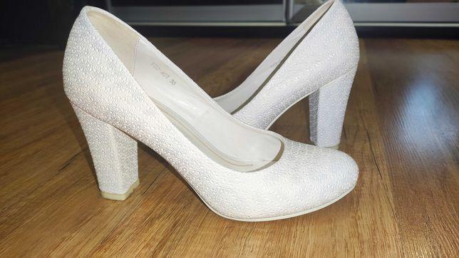 Свадебные жемчужные туфли 38 размер