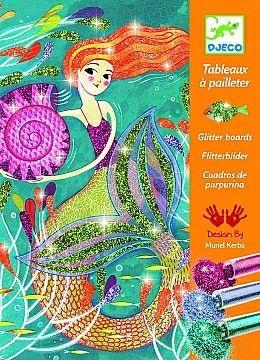 Набор для творчества для рисования блестками Djeco Блестящие русалки