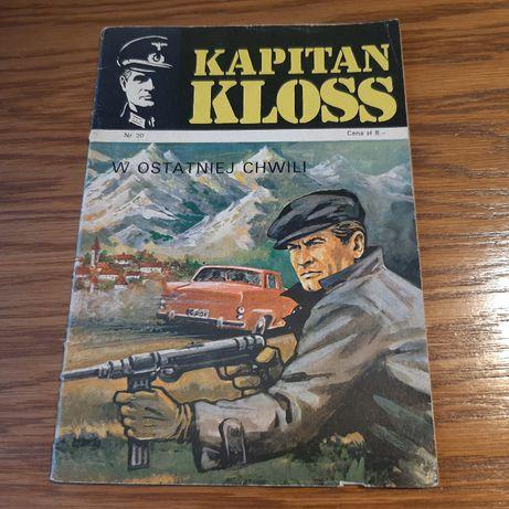 """Komiks Kapitan Kloss """" W ostatniej chwili"""" nr 20 wyd. I z 1973 roku"""