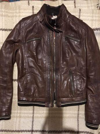 Куртка Кожаная Женская  Calvin klein,Versace,Италия размер S-M