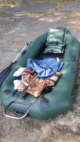 Лодка Ладья ЛТ-240А-ЯПС, подушки, якорь Флажок - 2 шт