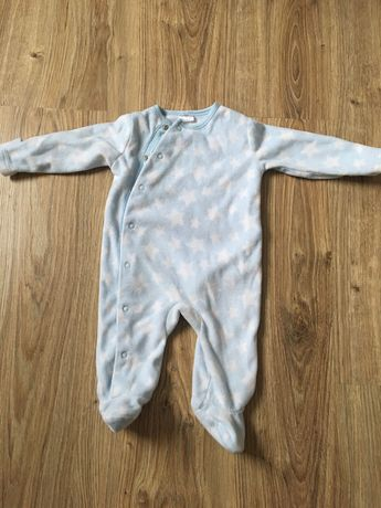Polarowy pajac F&F piżama 62/68