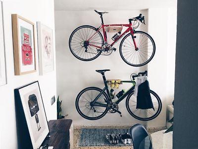 Drewniany wieszak rowerowy