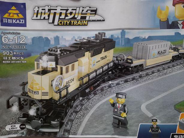 Лего поїзд Kazi залізниця / поезд Kazi железная дорога