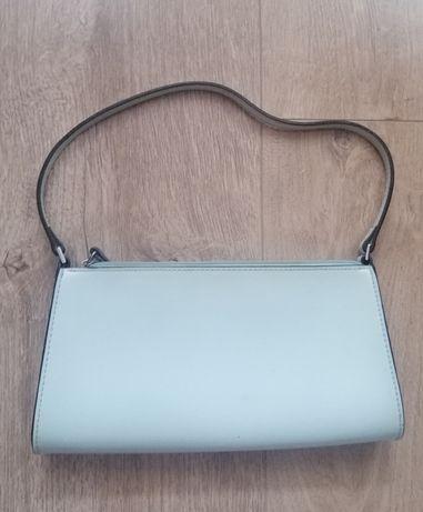 Mała miętowa torebka z paskiem Marks&Sepcer