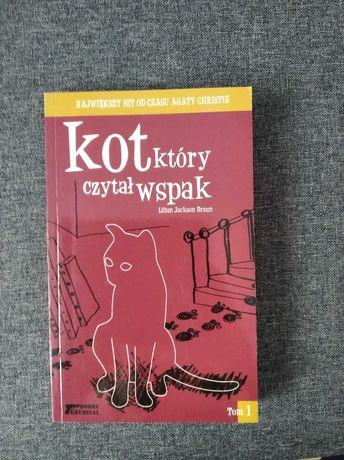 Książka. Kot który czytał wspak. Lilian Jackson Braun.