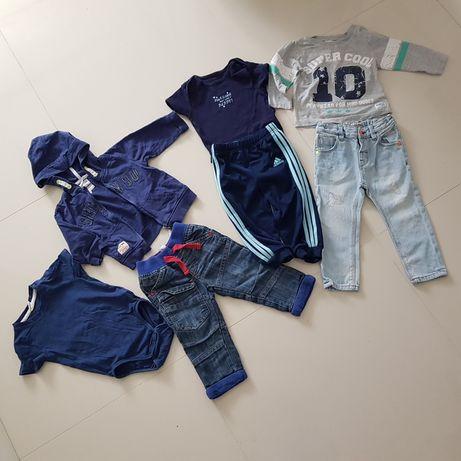 Praktyczny zestaw ubranek dla chłopca r. 80 PILNIE SIĘ POZBĘDĘ!