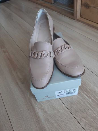 Buty damskie mokasyny r. 38 beżowy