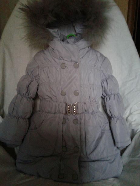 Зимнее пальто р.98 Курточка-пальто теплое р.92