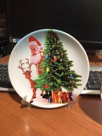 Новогодние тарелки с любым изображением по вашему заказу!