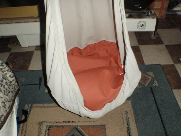 huśtawka bujawka poducha wisząca sufitowa + haki do mocowania do 120kg