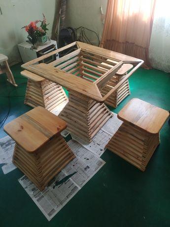 Дерев'яні комплект стол
