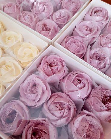 Зефир, букеты из зефирных роз, шары, маршмеллоу мордашки