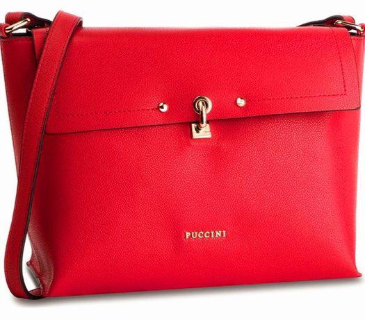 Czerwona torba listonoszka Puccini Ochnik